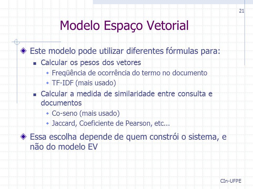 Modelo Espaço Vetorial