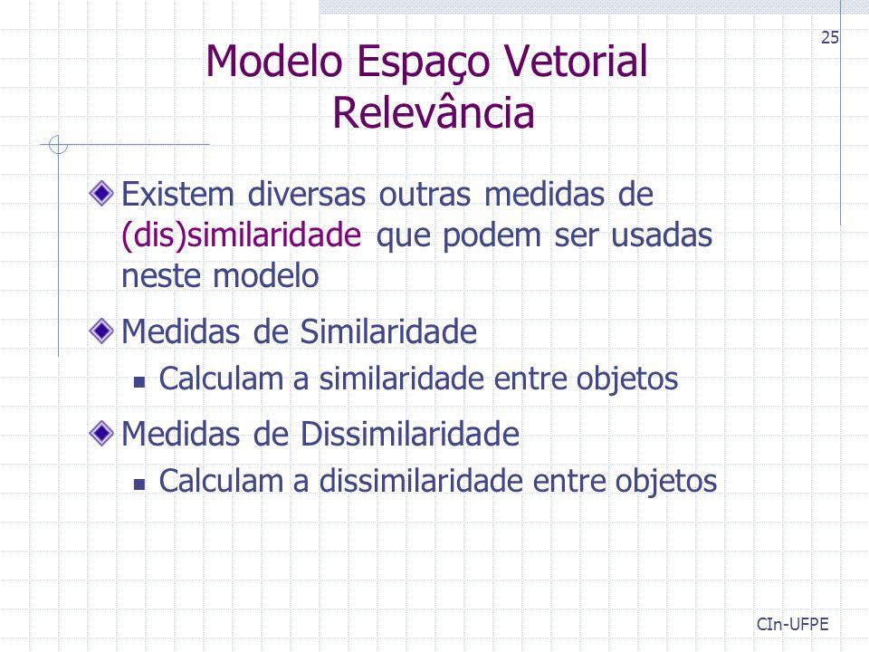 Modelo Espaço Vetorial Relevância