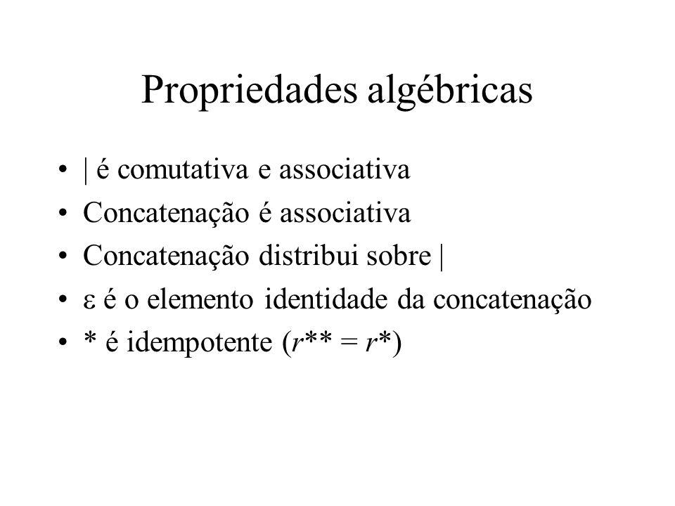 Propriedades algébricas