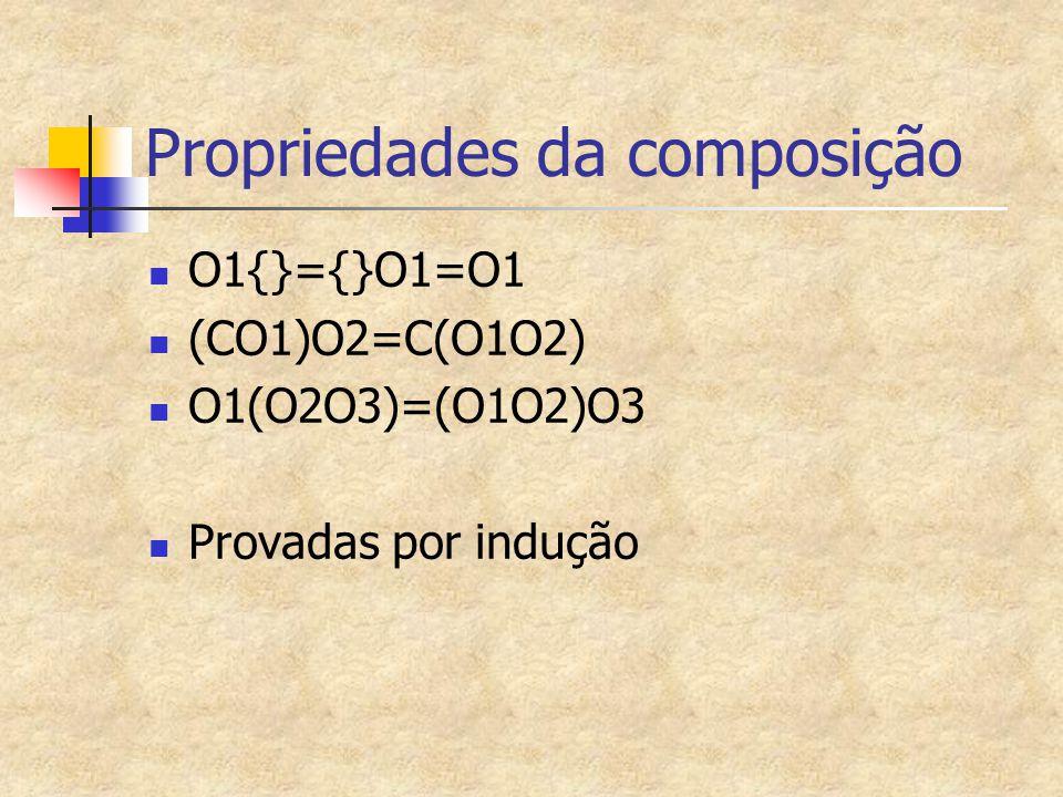 Propriedades da composição