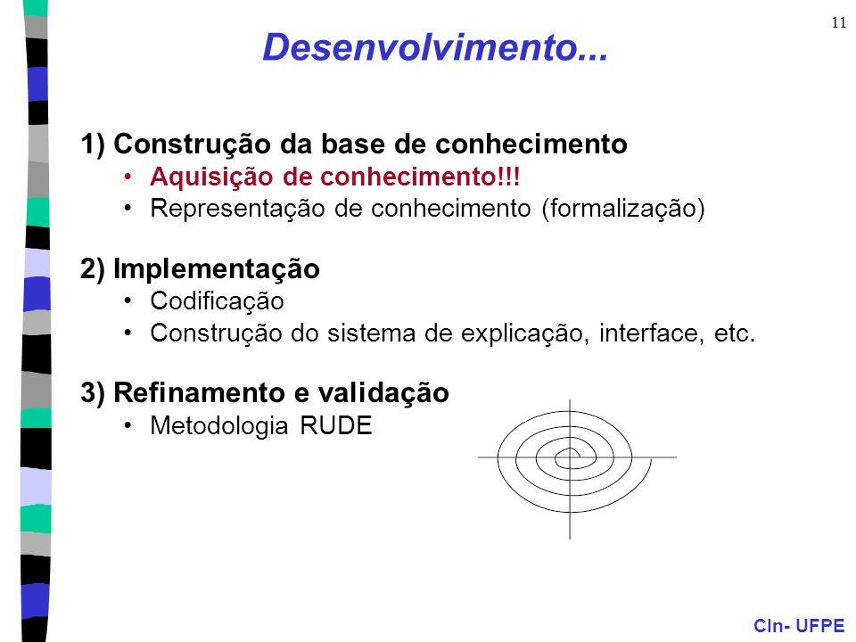 Desenvolvimento... 1) Construção da base de conhecimento
