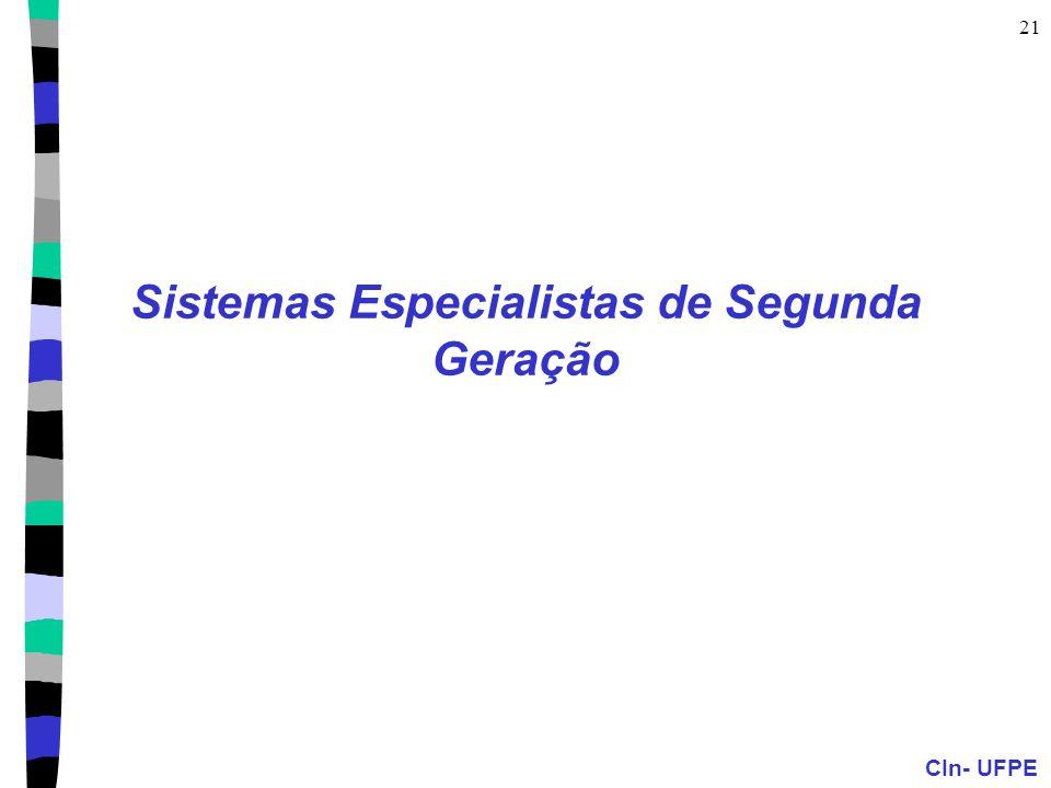 Sistemas Especialistas de Segunda Geração