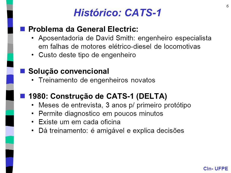 Histórico: CATS-1 Problema da General Electric: Solução convencional