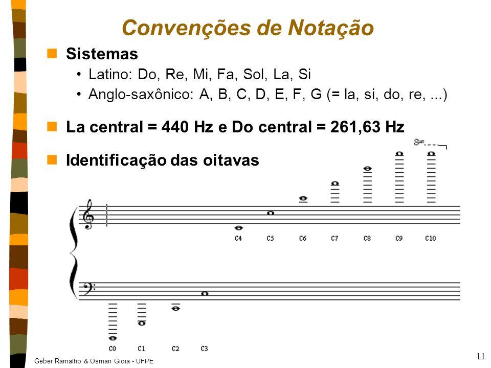 Convenções de Notação Sistemas