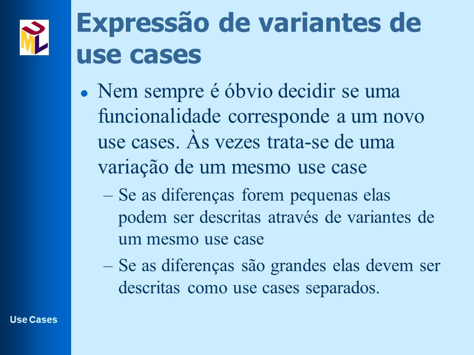 Expressão de variantes de use cases