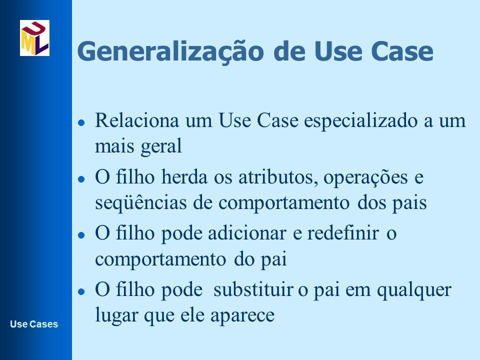 Generalização de Use Case