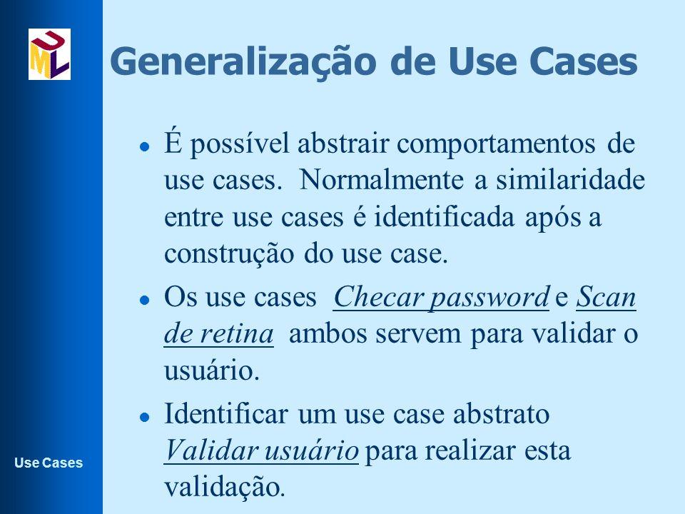 Generalização de Use Cases