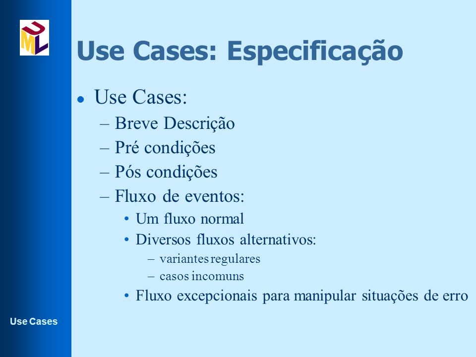Use Cases: Especificação