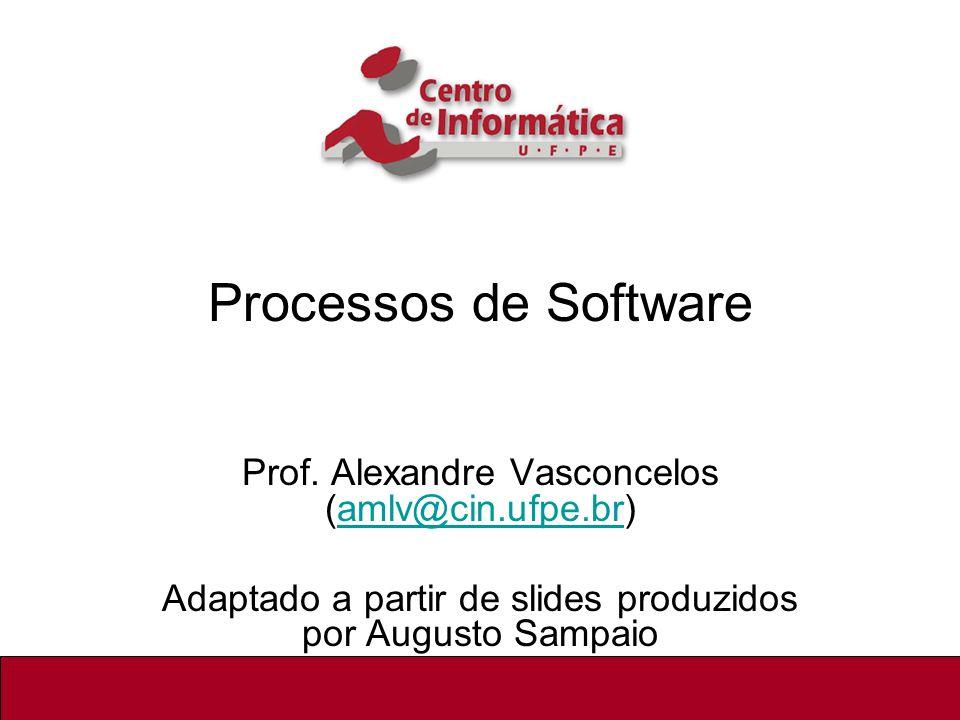 Processos de Software Prof. Alexandre Vasconcelos (amlv@cin.ufpe.br)
