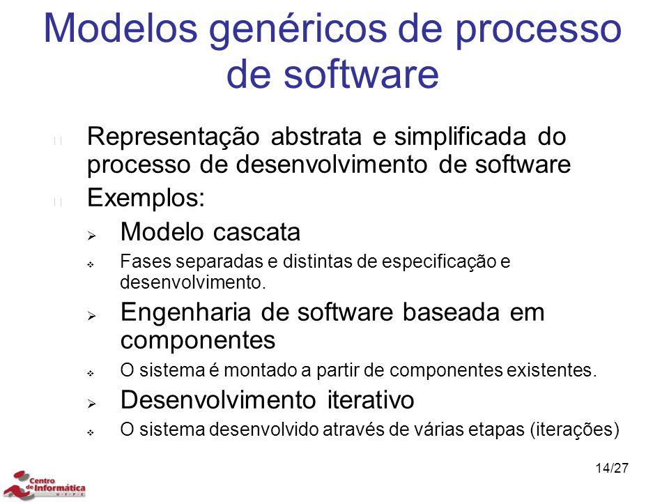 Modelos genéricos de processo de software