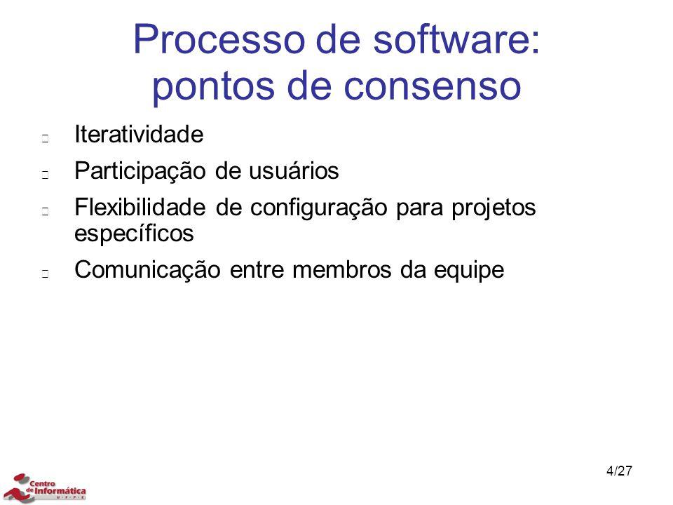Processo de software: pontos de consenso