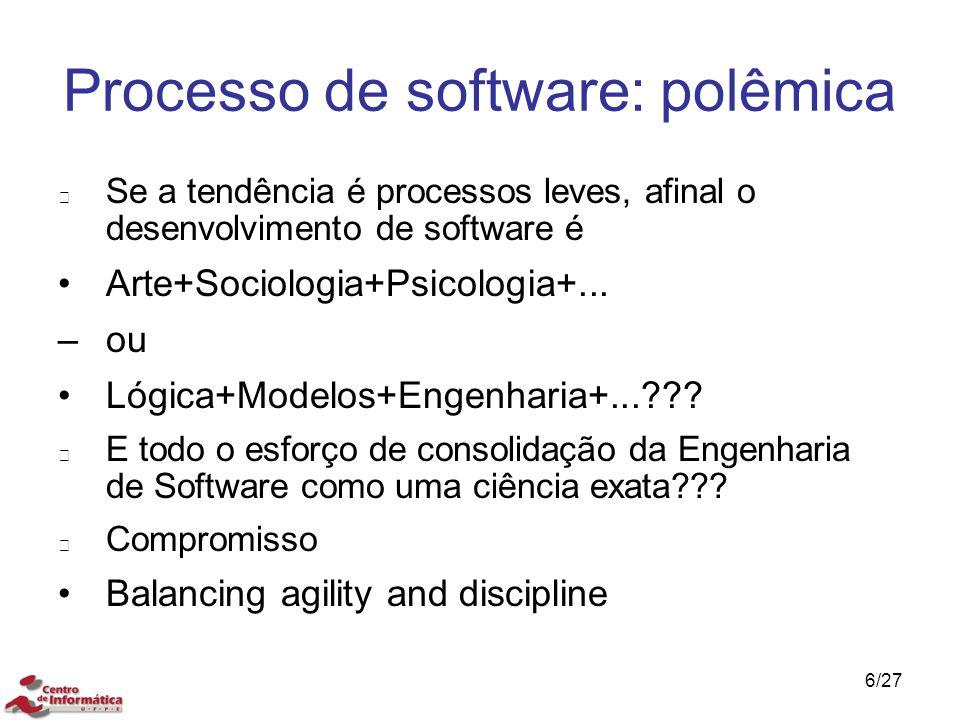 Processo de software: polêmica