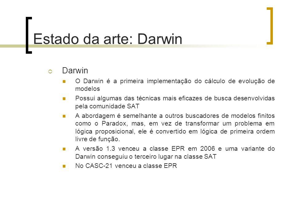 Estado da arte: Darwin Darwin