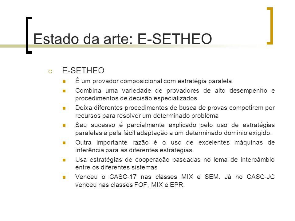 Estado da arte: E-SETHEO