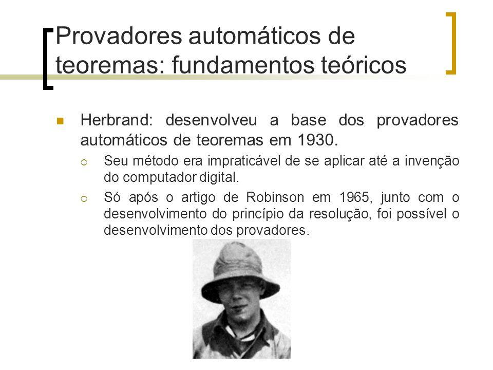 Provadores automáticos de teoremas: fundamentos teóricos