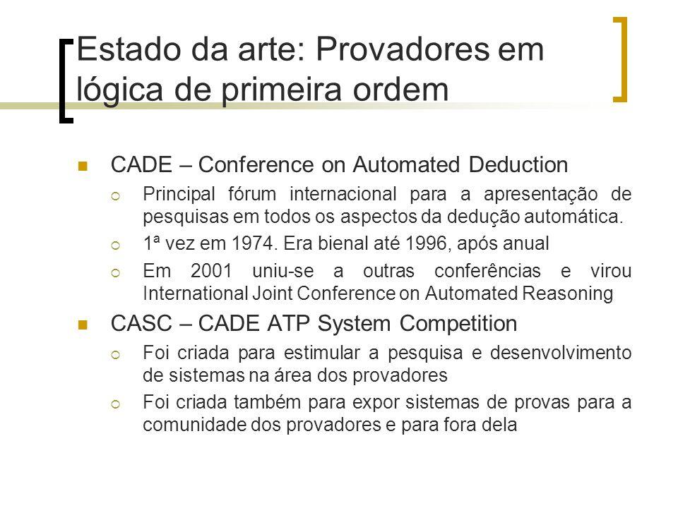 Estado da arte: Provadores em lógica de primeira ordem