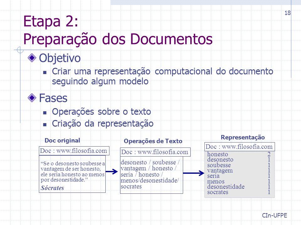 Etapa 2: Preparação dos Documentos