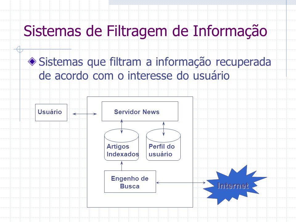 Sistemas de Filtragem de Informação