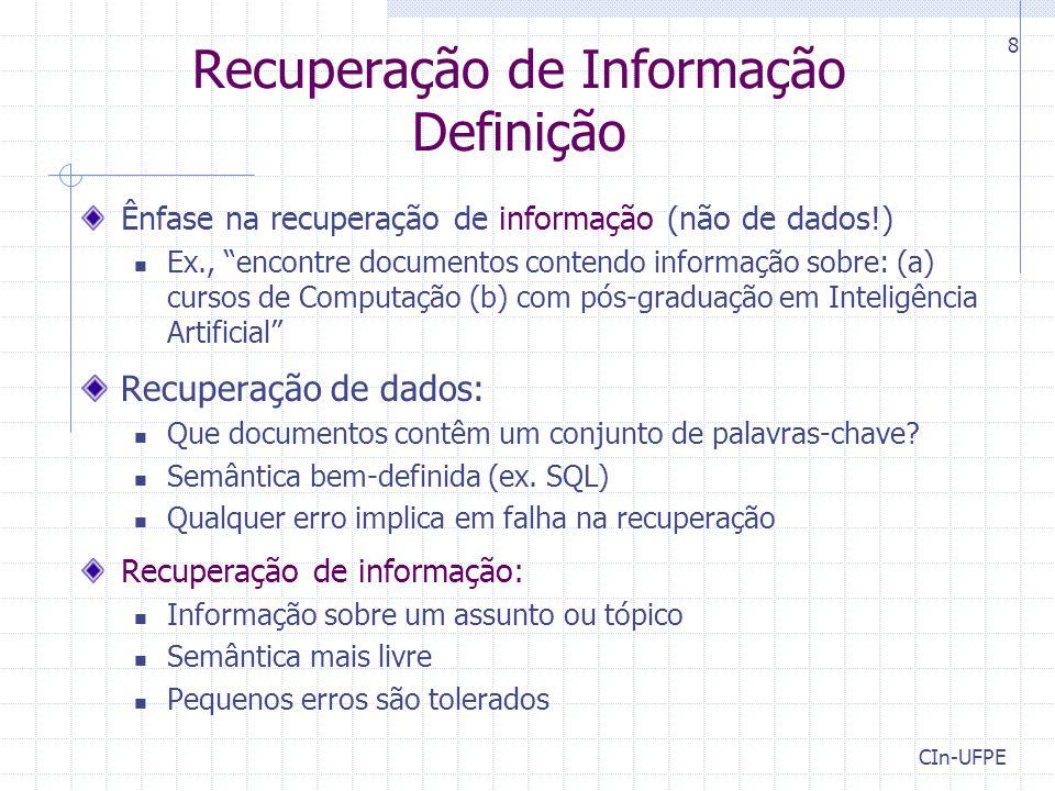 Recuperação de Informação Definição