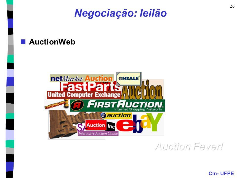 Negociação: leilão AuctionWeb Auction Fever!