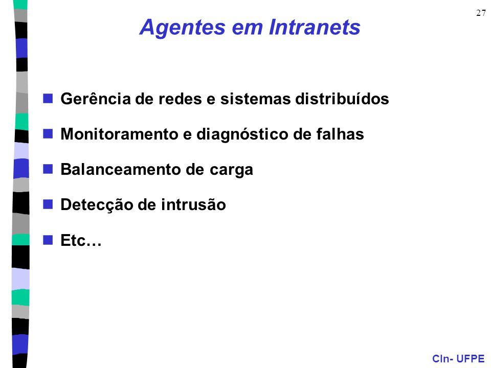 Agentes em Intranets Gerência de redes e sistemas distribuídos