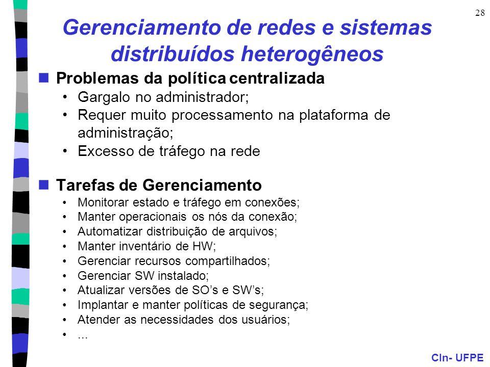 Gerenciamento de redes e sistemas distribuídos heterogêneos