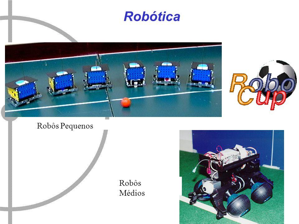 Robótica Robôs Pequenos Robôs Médios