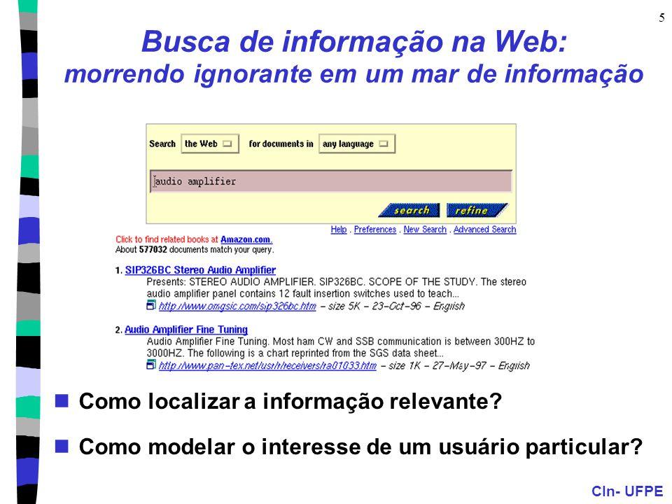 Busca de informação na Web: morrendo ignorante em um mar de informação