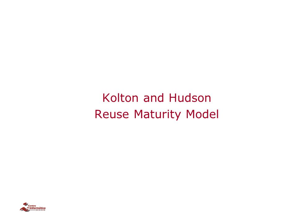 Kolton and Hudson Reuse Maturity Model