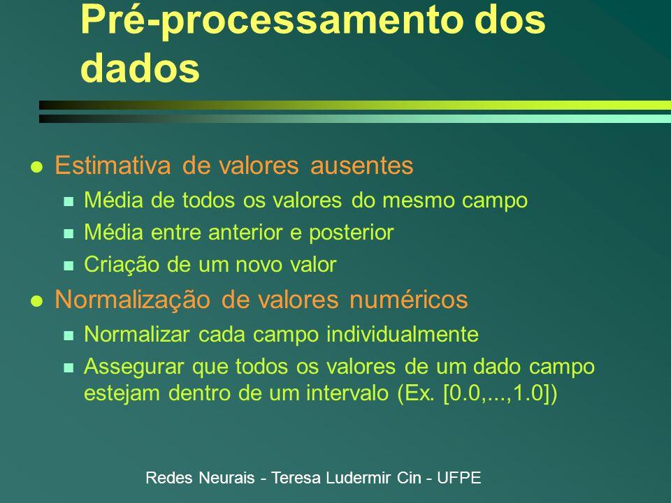 Pré-processamento dos dados