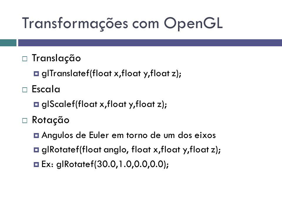 Transformações com OpenGL