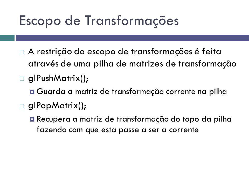 Escopo de Transformações