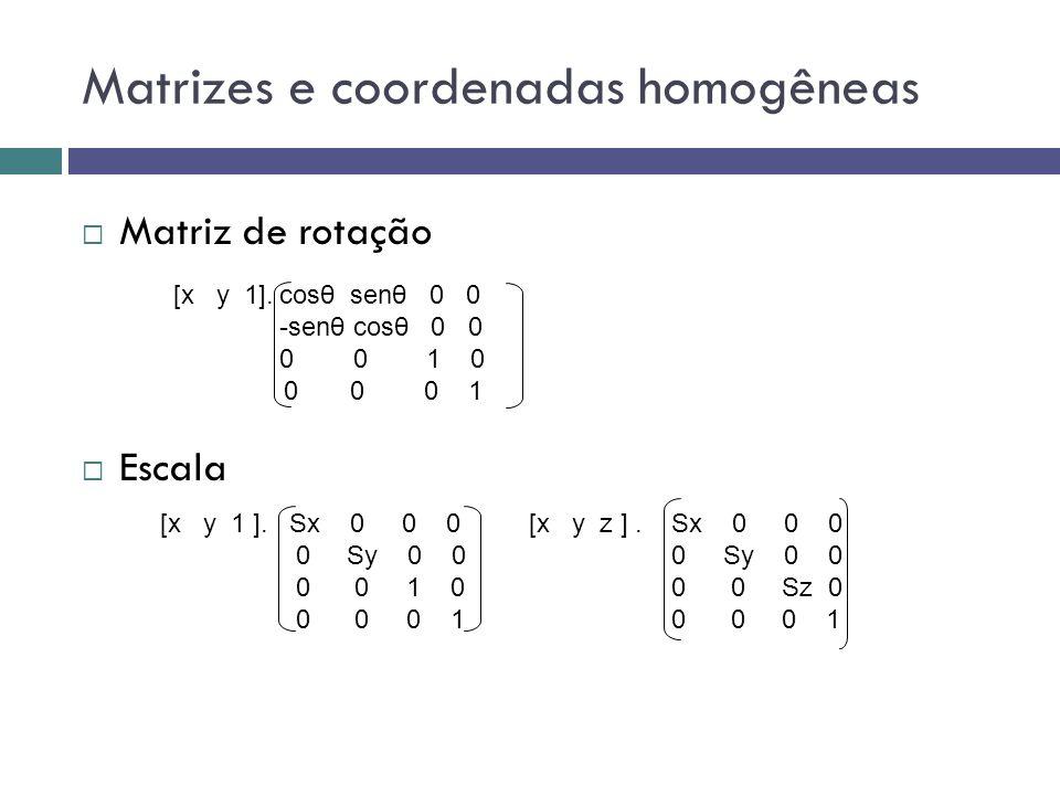 Matrizes e coordenadas homogêneas