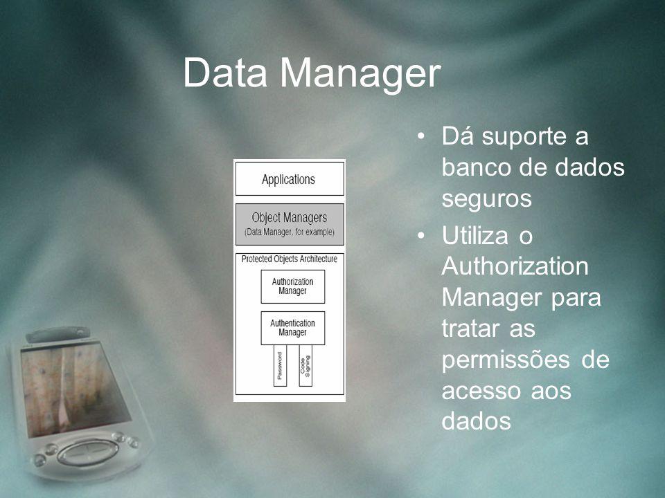 Data Manager Dá suporte a banco de dados seguros