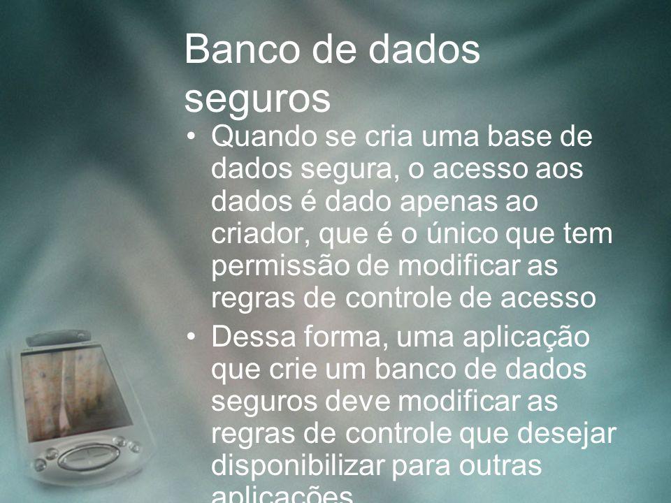 Banco de dados seguros