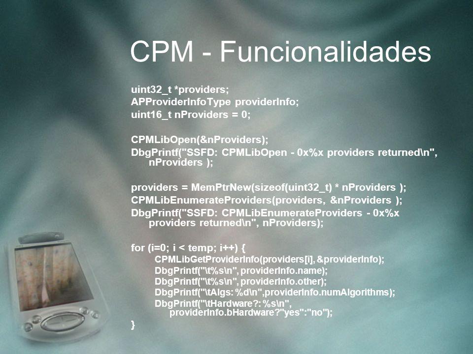 CPM - Funcionalidades uint32_t *providers;
