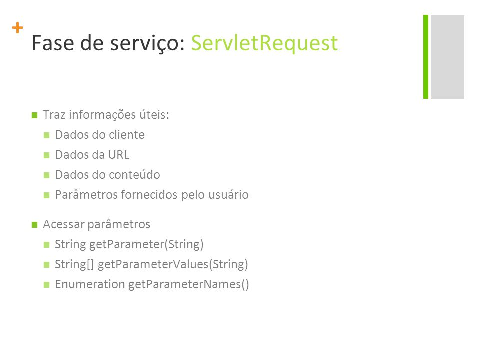 Fase de serviço: ServletRequest