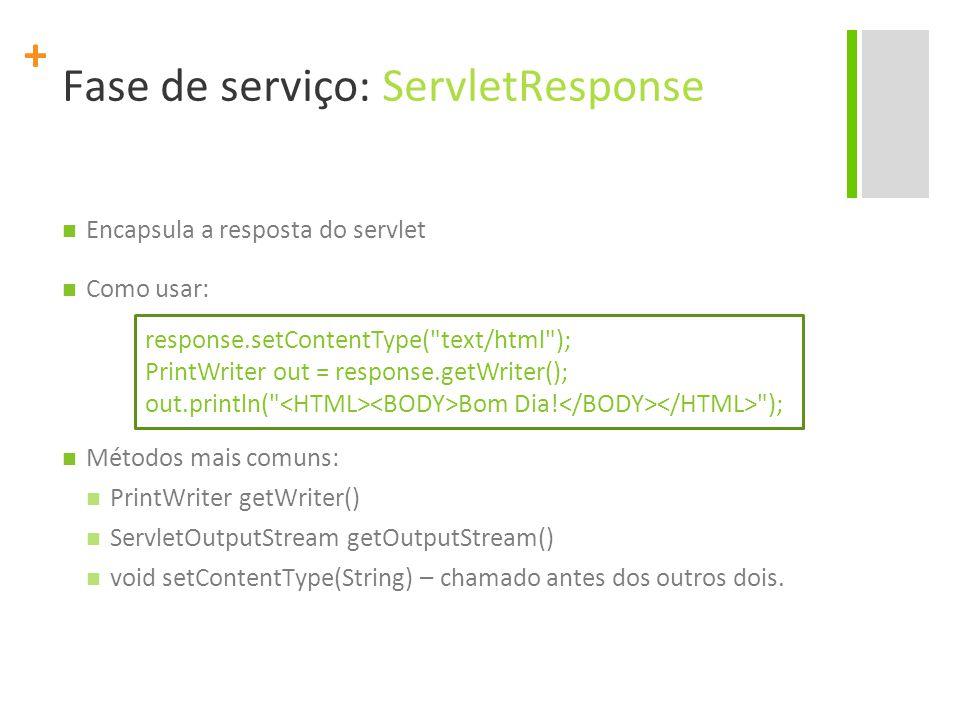 Fase de serviço: ServletResponse