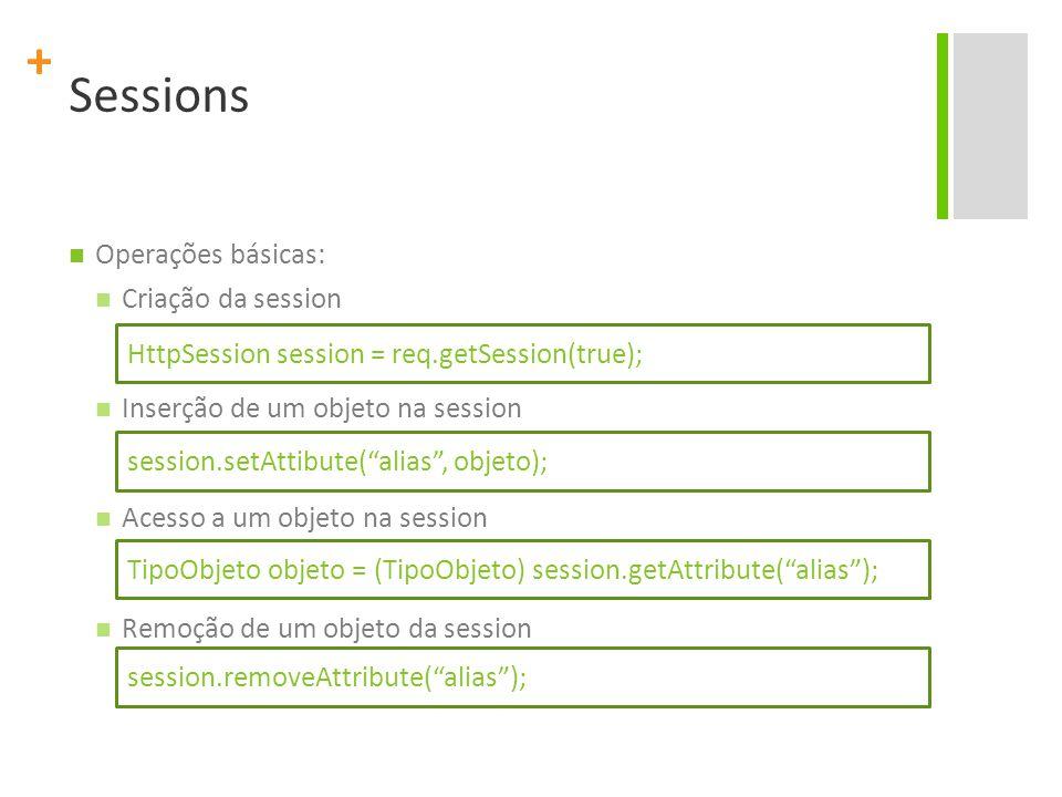 Sessions Operações básicas: Criação da session