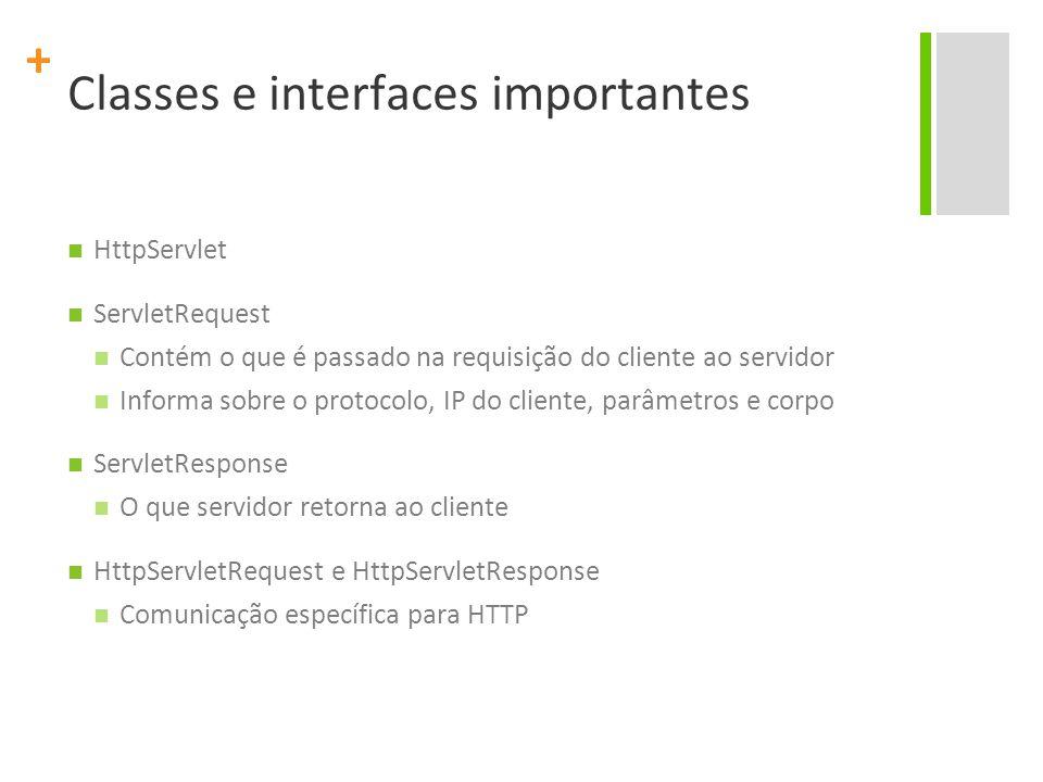 Classes e interfaces importantes