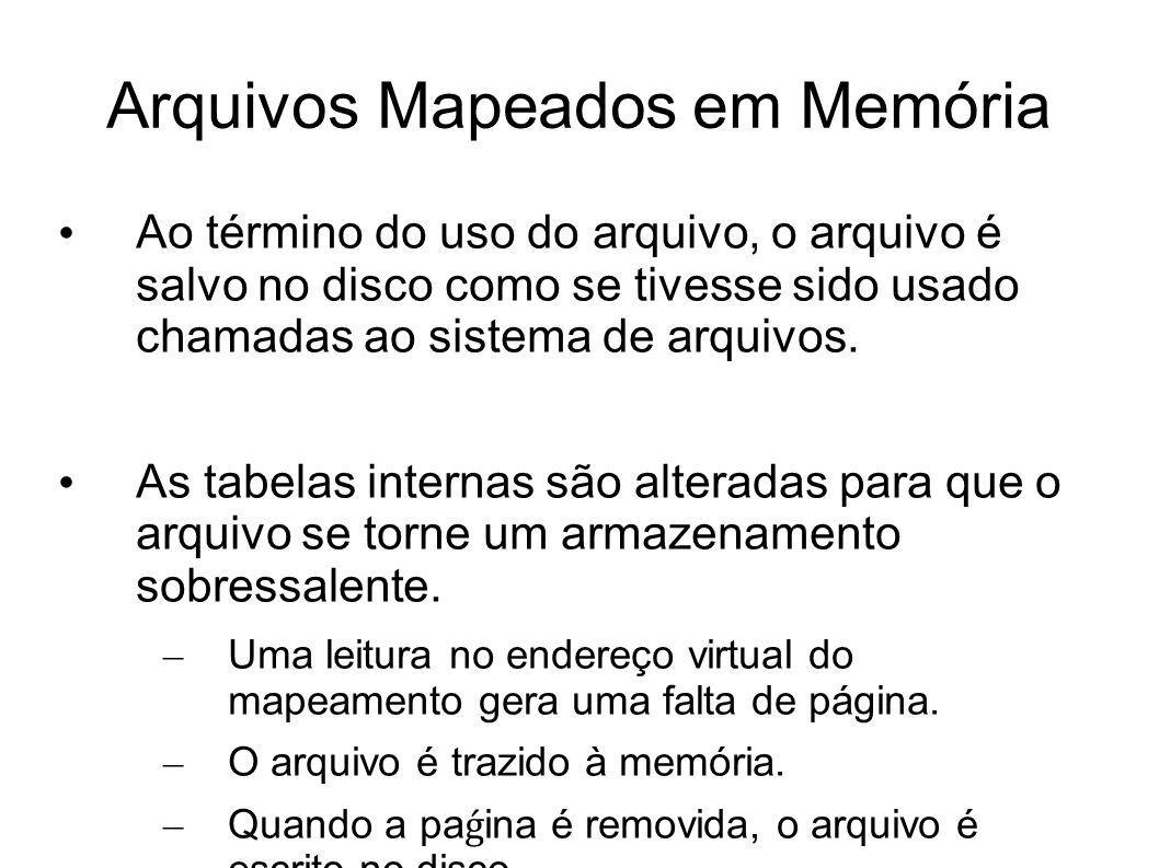 Arquivos Mapeados em Memória