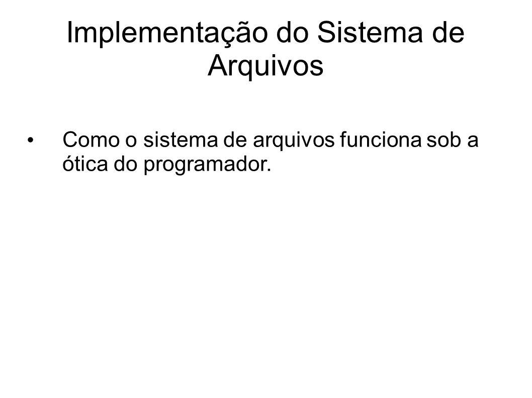 Implementação do Sistema de Arquivos