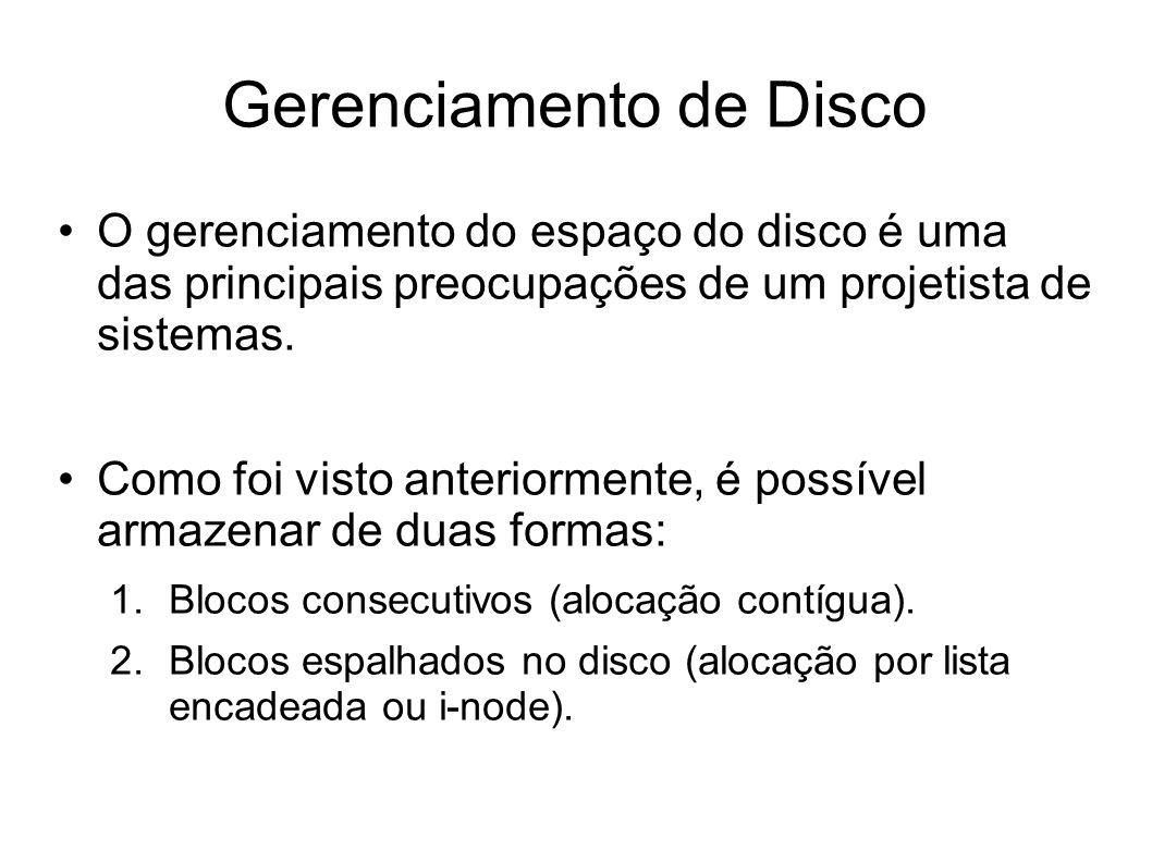 Gerenciamento de Disco