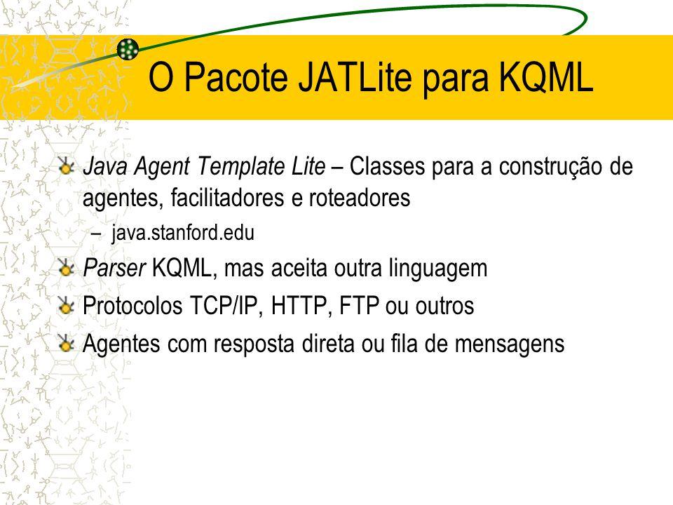 O Pacote JATLite para KQML