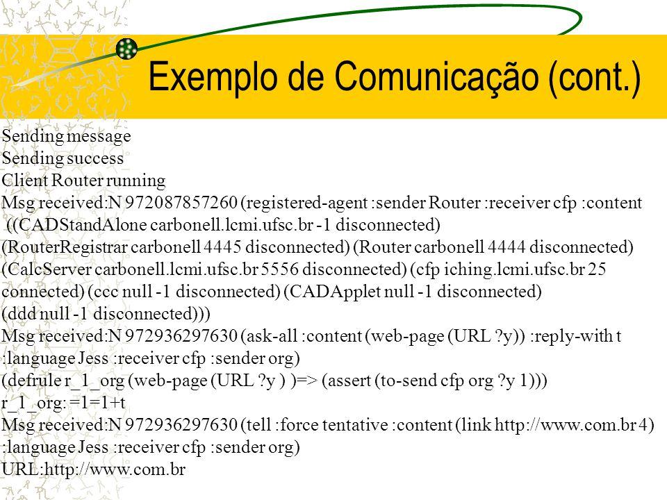 Exemplo de Comunicação (cont.)