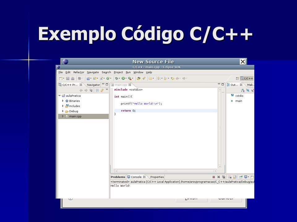 Exemplo Código C/C++