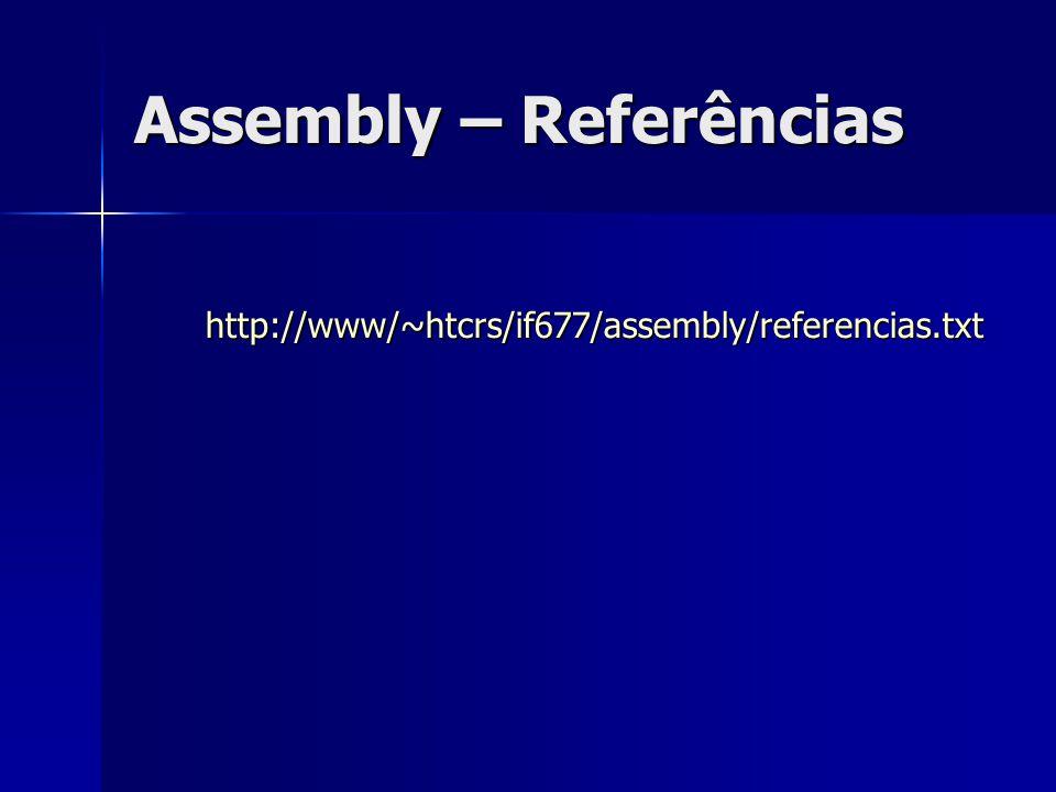 Assembly – Referências