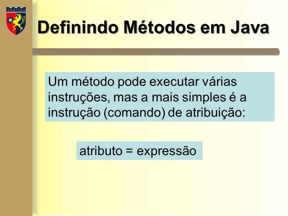 Definindo Métodos em Java
