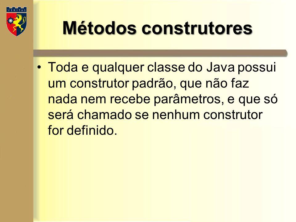 Métodos construtores