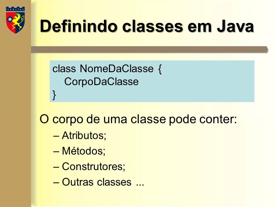 Definindo classes em Java